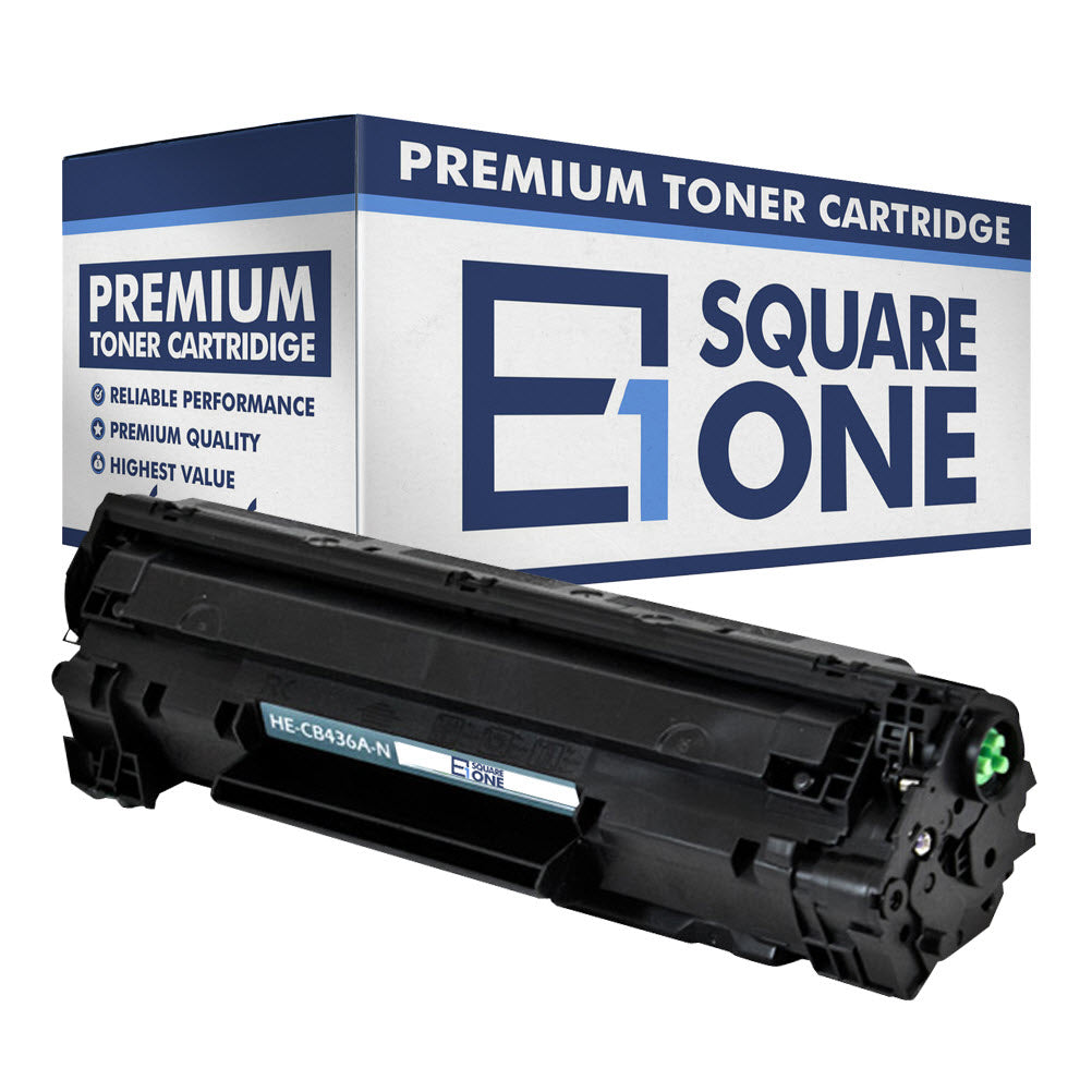 eSquareOne Compatible Toner Cartridge Replacement for HP 36A CB436A (Black, 1-Pack)