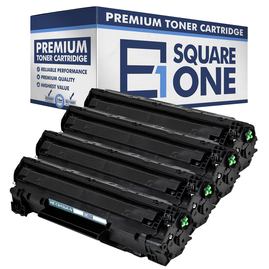 eSquareOne Compatible Toner Cartridge Replacement for HP 36A CB436A (Black, 4-Pack)