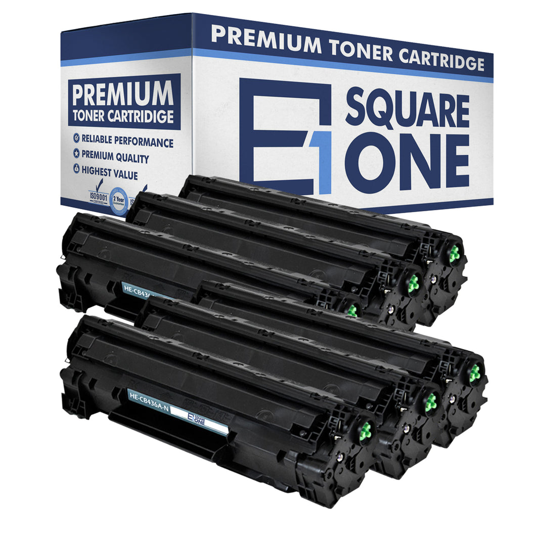 eSquareOne Compatible Toner Cartridge Replacement for HP 36A CB436A (Black, 6-Pack)