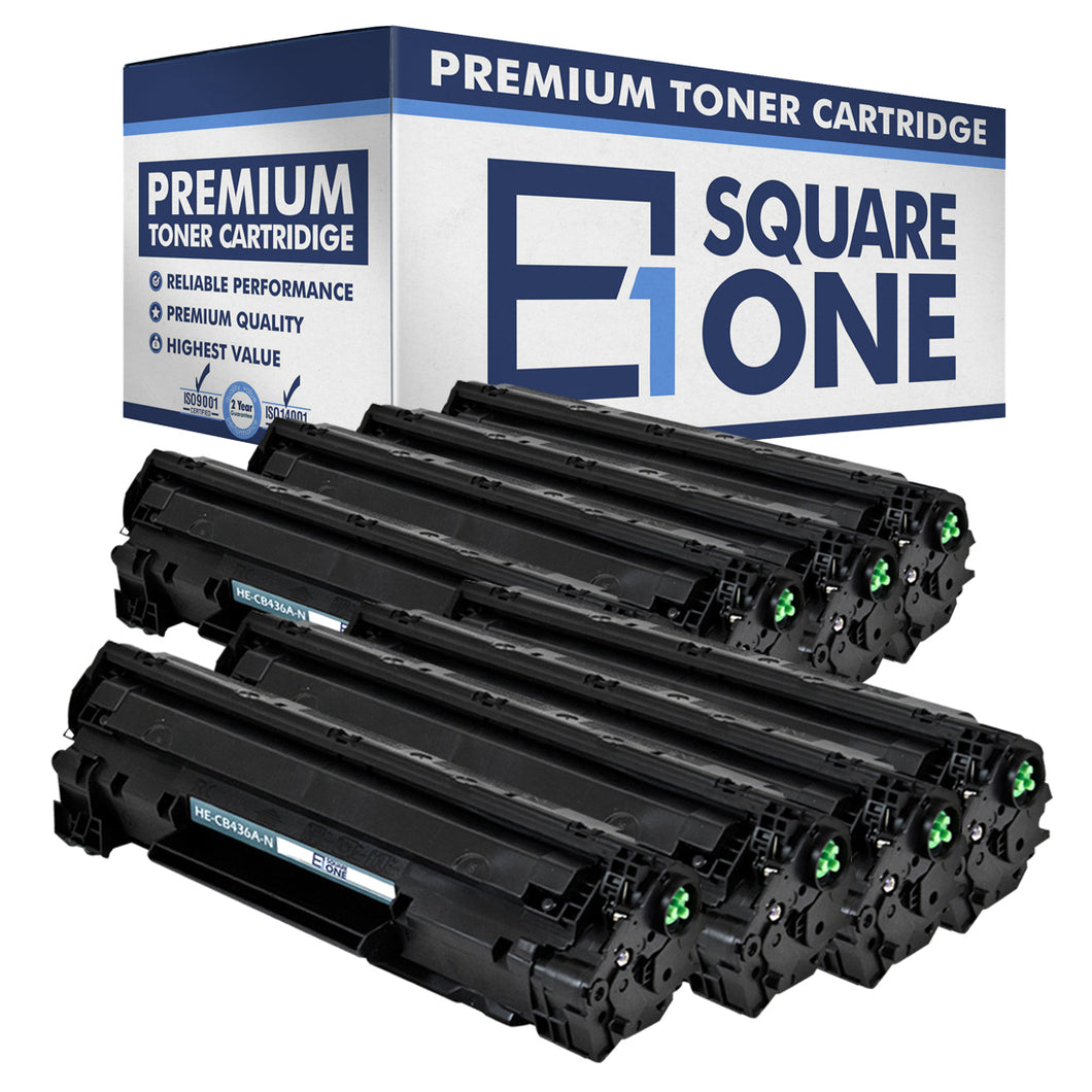 eSquareOne Compatible Toner Cartridge Replacement for HP 36A CB436A (Black, 8-Pack)