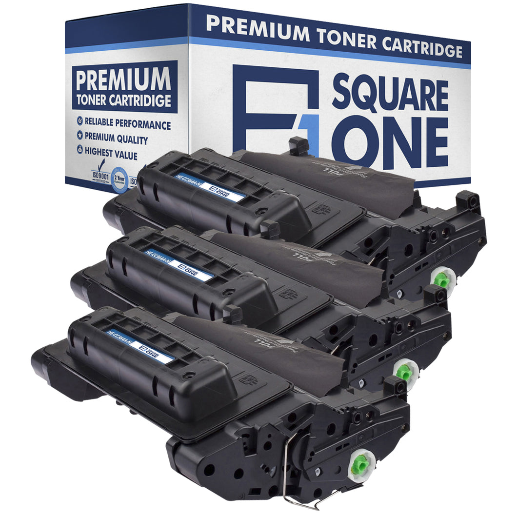 eSquareOne Compatible Toner Cartridge Replacement for HP 64A CC364A (Black, 3-Pack)