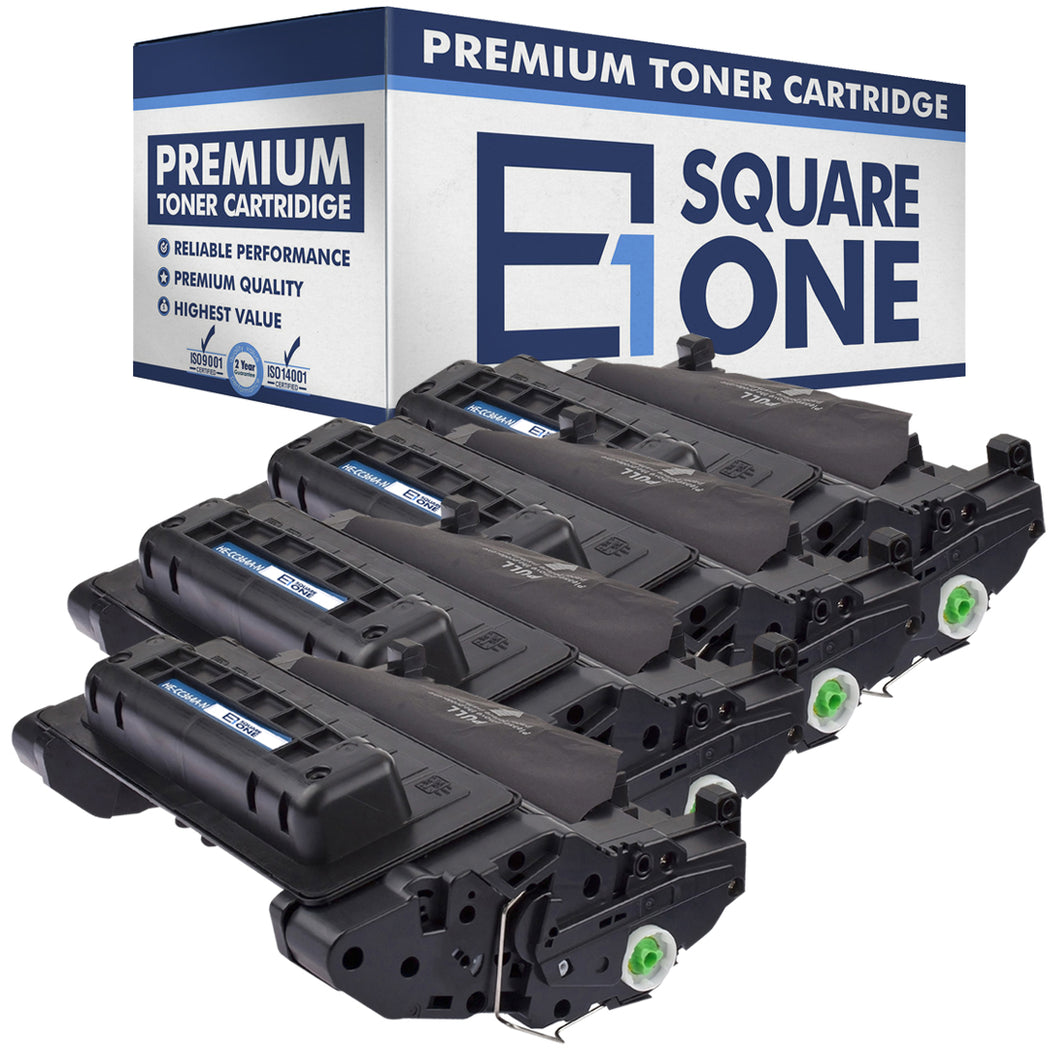 eSquareOne Compatible Toner Cartridge Replacement for HP 64A CC364A (Black, 4-Pack)