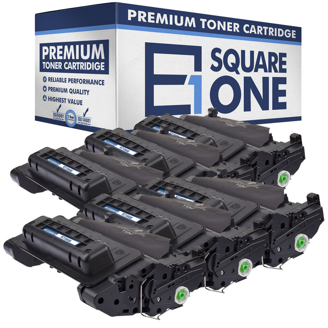 eSquareOne Compatible Toner Cartridge Replacement for HP 64A CC364A (Black, 6-Pack)