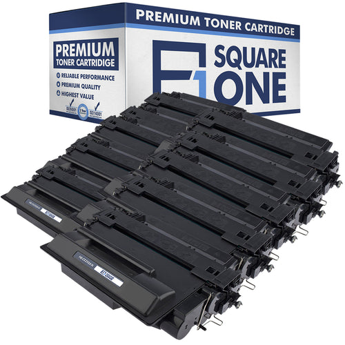 eSquareOne Compatible High Yield Toner Cartridge Replacement for HP 55X CE255X (Black, 10-Pack)