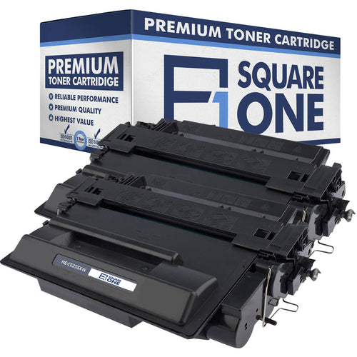 eSquareOne Compatible High Yield Toner Cartridge Replacement for HP 55X CE255X (Black, 2-Pack)