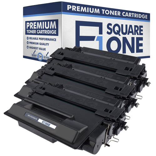 eSquareOne Compatible High Yield Toner Cartridge Replacement for HP 55X CE255X (Black, 3-Pack)