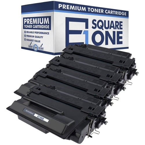 eSquareOne Compatible High Yield Toner Cartridge Replacement for HP 55X CE255X (Black, 4-Pack)