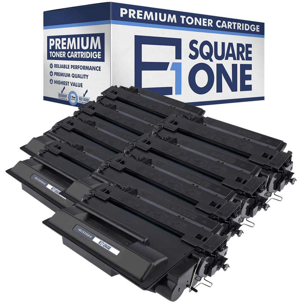 eSquareOne Compatible High Yield Toner Cartridge Replacement for HP 55X CE255X (Black, 6-Pack)