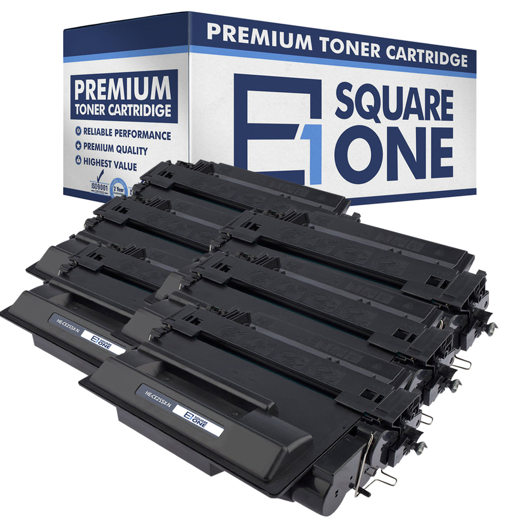 eSquareOne Compatible High Yield Toner Cartridge Replacement for HP 55X CE255X (Black, 8-Pack)