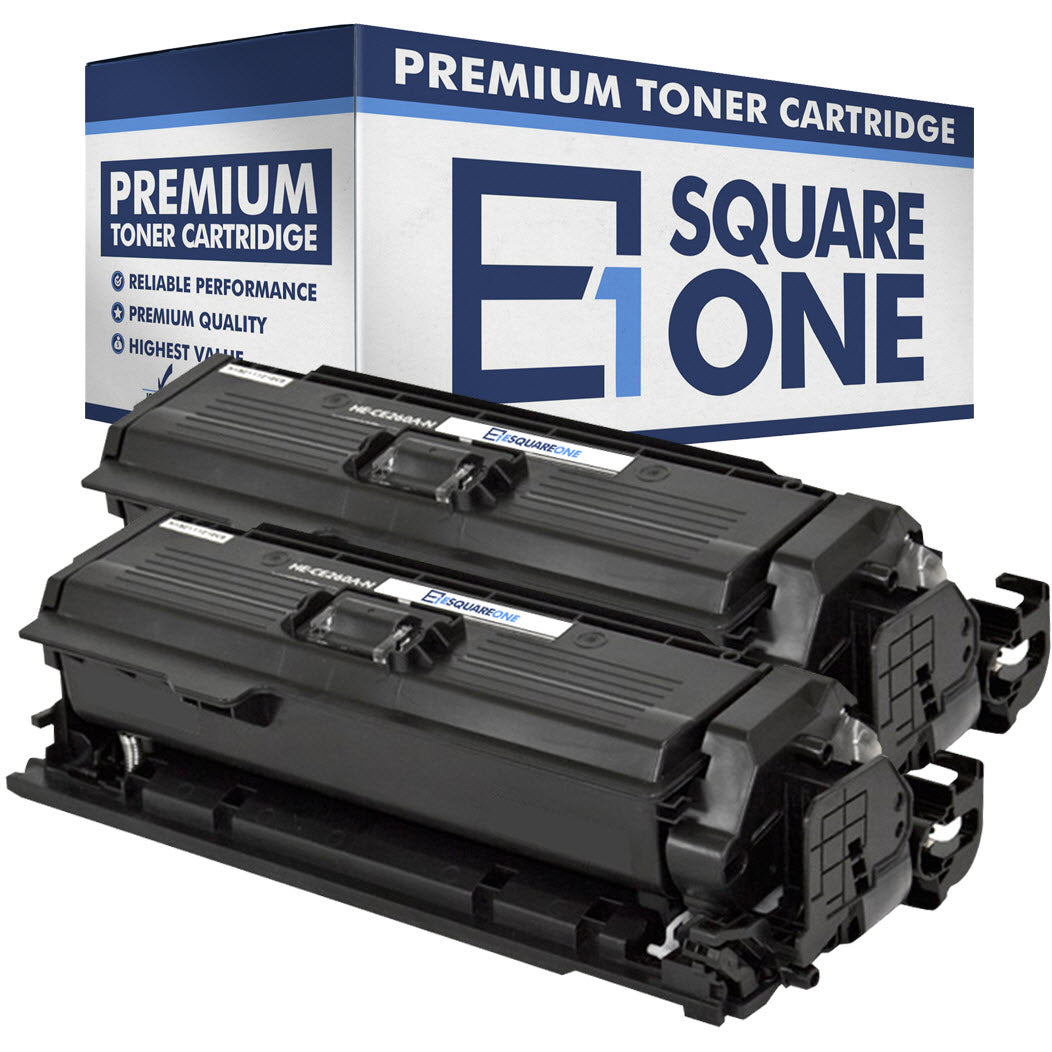 eSquareOne Compatible Toner Cartridge Replacement for HP 647A CE260A (Black, 2-Pack)