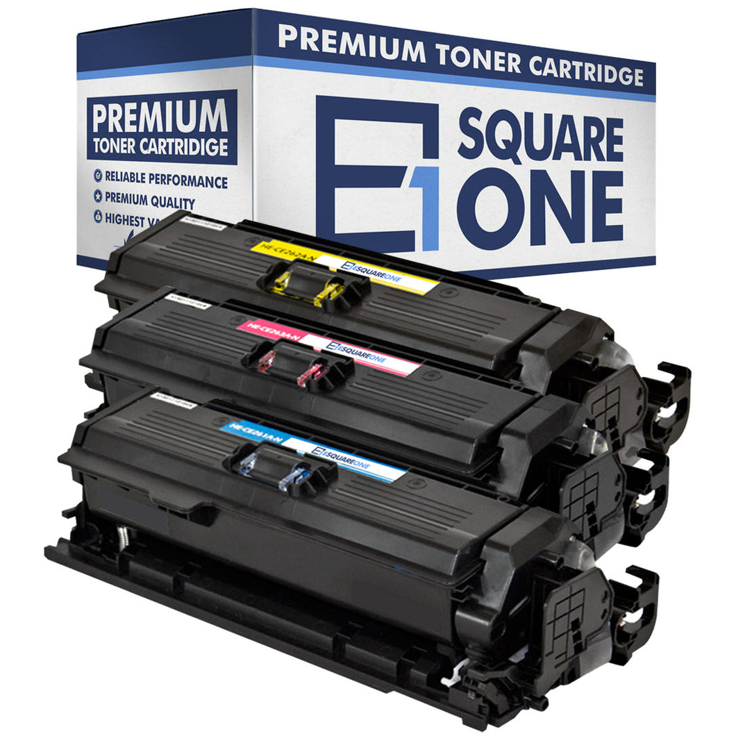 eSquareOne Compatible Toner Cartridge Replacement for HP 648A CE262A CE261A CE263A (Cyan, Magenta, Yellow)