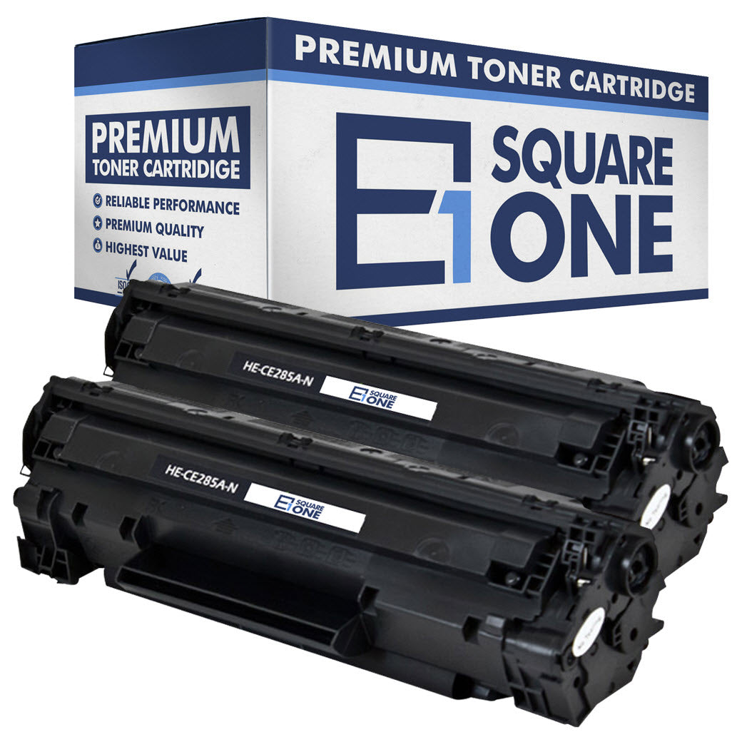 eSquareOne Compatible Toner Cartridge Replacement for HP 85A CE285A (Black, 2-Pack)