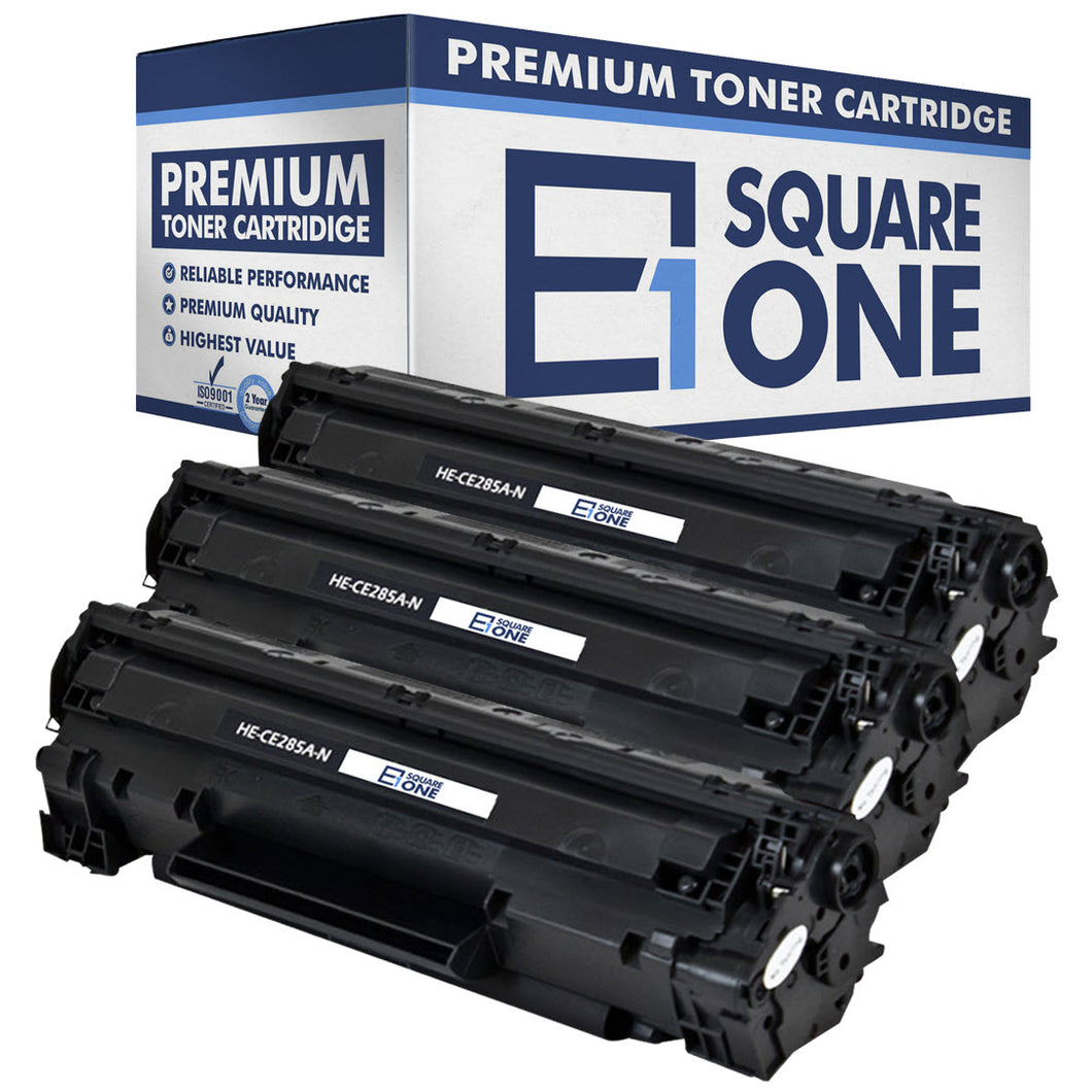 eSquareOne Compatible Toner Cartridge Replacement for HP 85A CE285A (Black, 3-Pack)
