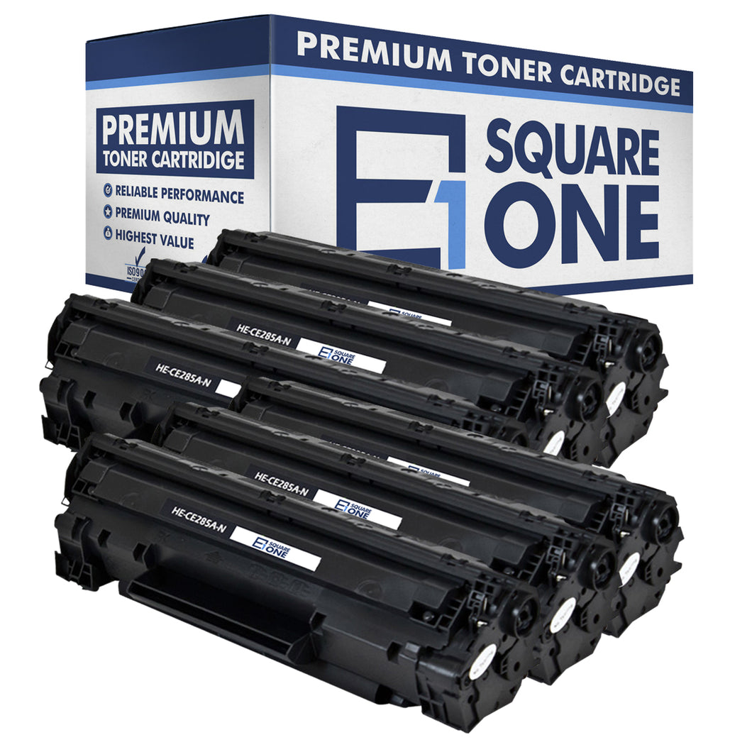 eSquareOne Compatible Toner Cartridge Replacement for HP 85A CE285A (Black, 6-Pack)