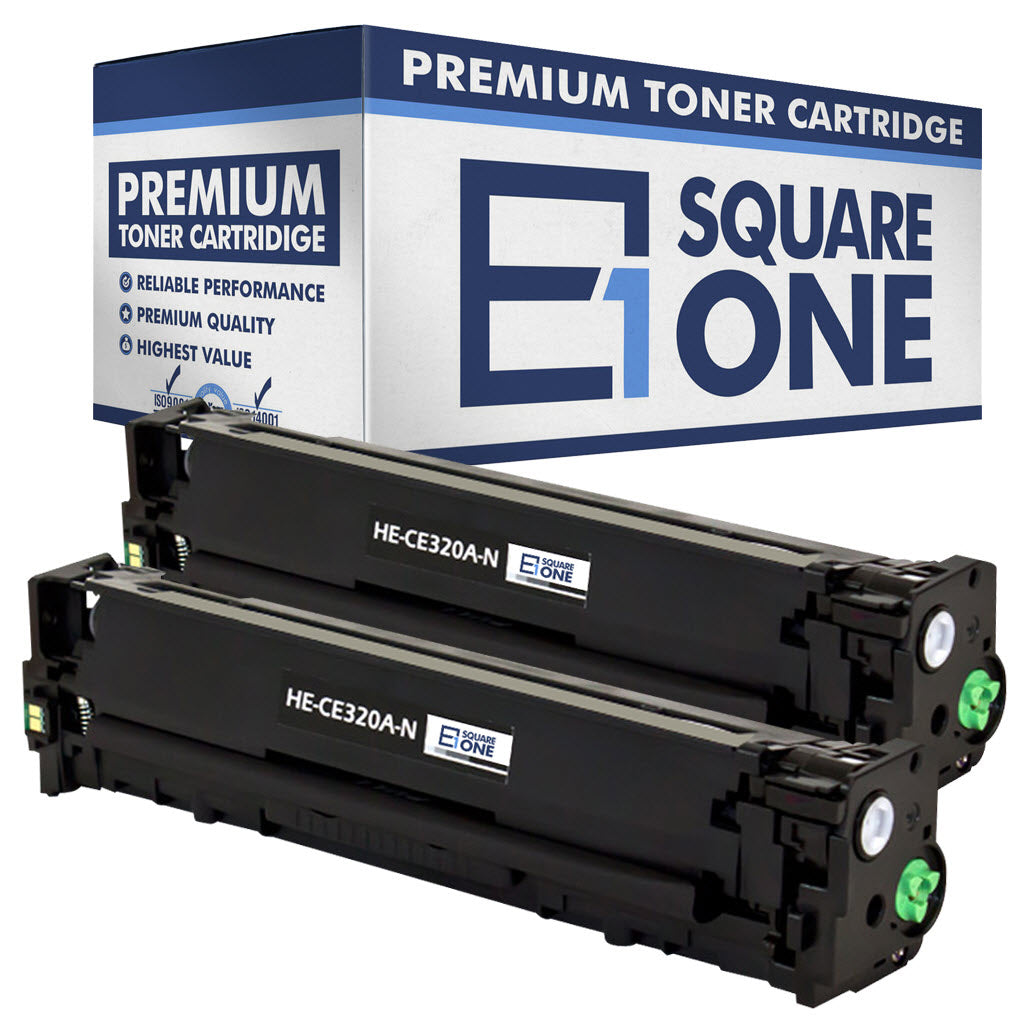 eSquareOne Compatible Toner Cartridge Replacement for HP 128A CE320A (Black, 2-Pack)
