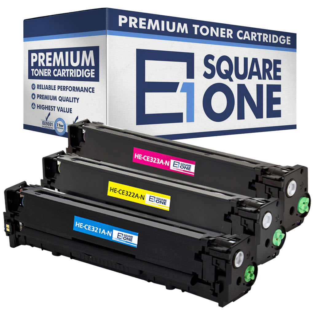 eSquareOne Compatible Toner Cartridge Replacement for HP 128A CE322A CE323A CE321A (Cyan, Magenta, Yellow)