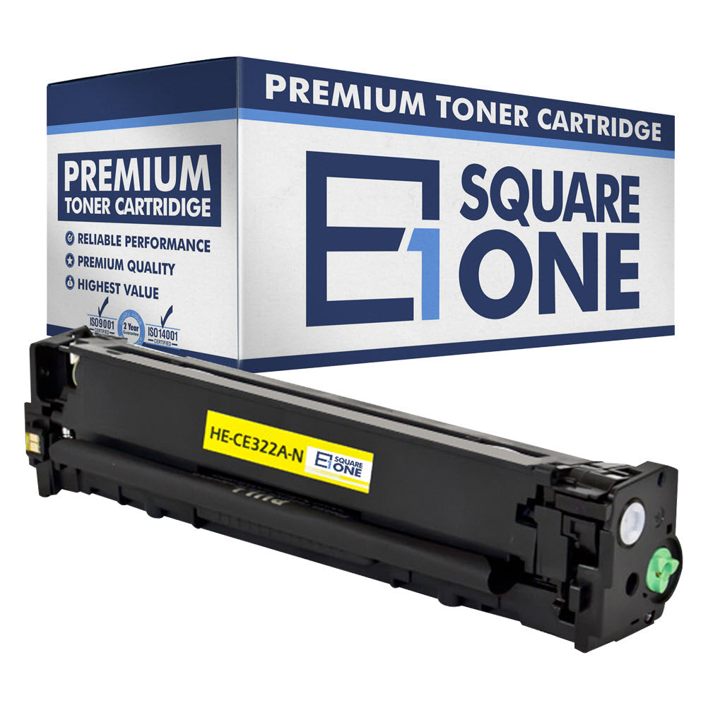 eSquareOne Compatible Toner Cartridge Replacement for HP 128A CE322A (Yellow, 1-Pack)