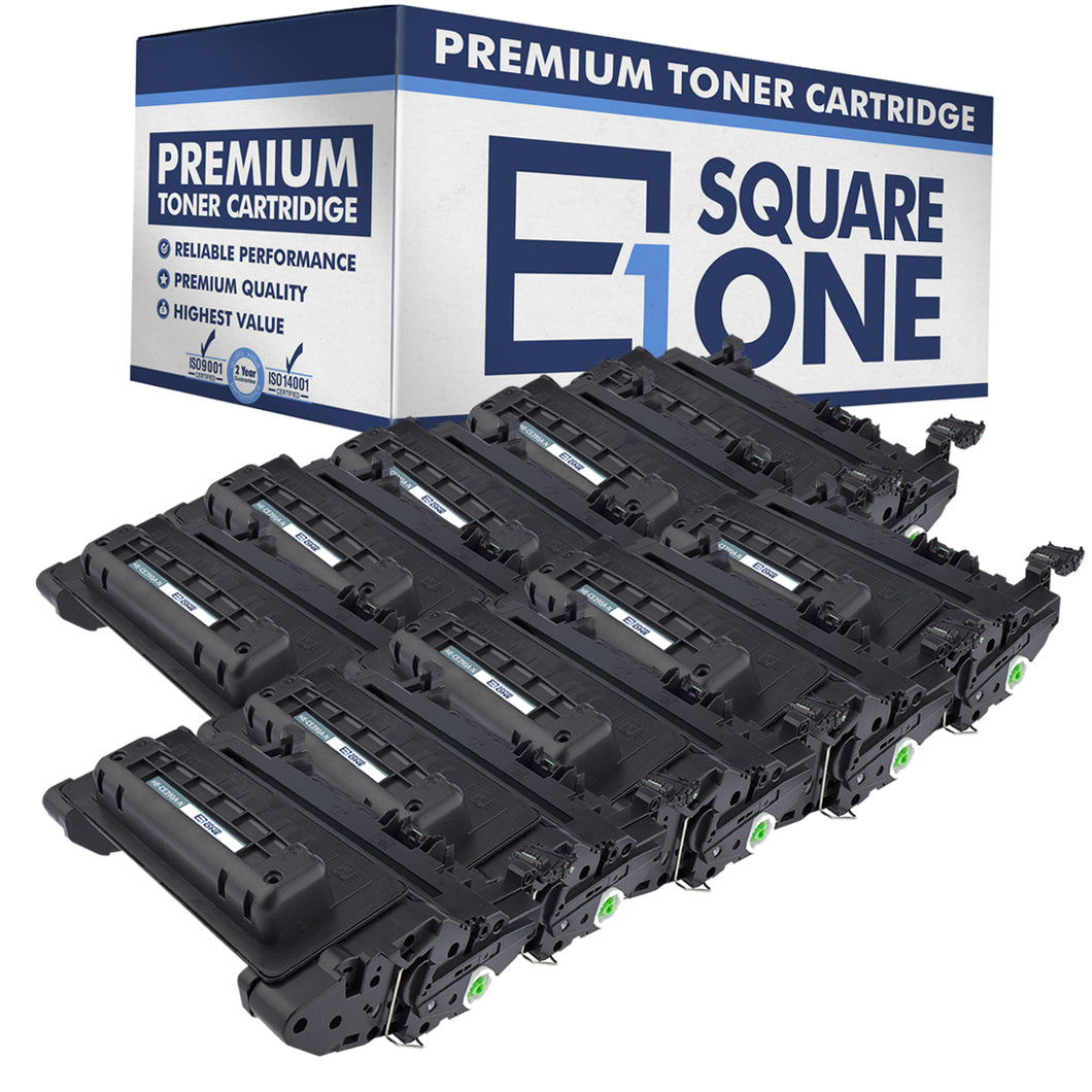 eSquareOne Compatible Toner Cartridge Replacement for HP 90A CE390A (Black, 10-Pack)