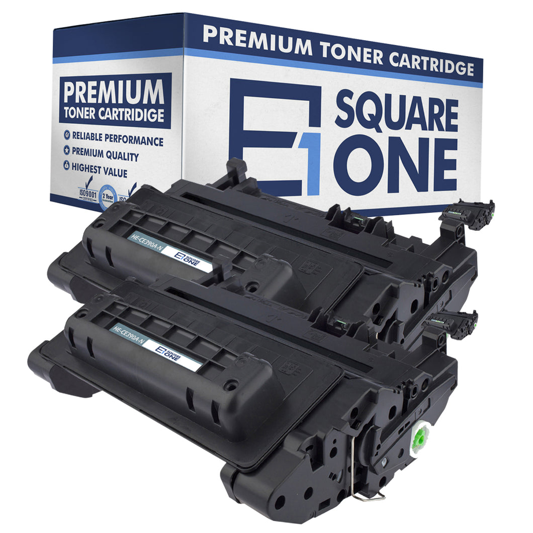 eSquareOne Compatible Toner Cartridge Replacement for HP 90A CE390A (Black, 2-Pack)