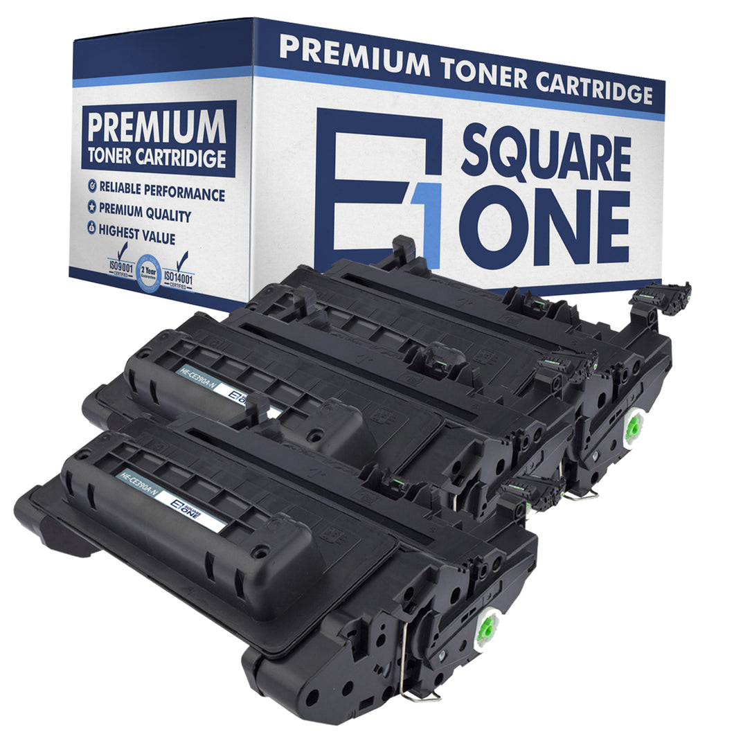 eSquareOne Compatible Toner Cartridge Replacement for HP 90A CE390A (Black, 3-Pack)