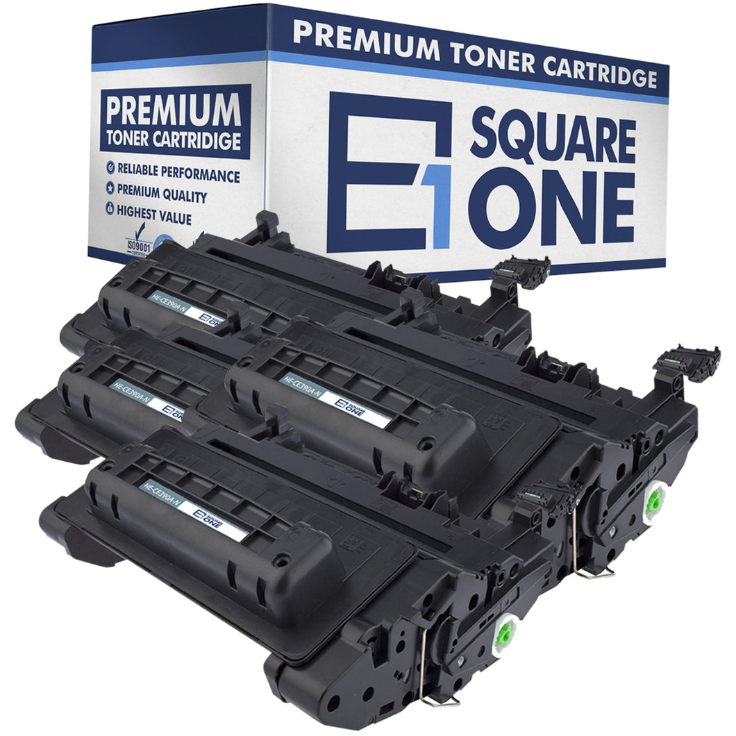 eSquareOne Compatible Toner Cartridge Replacement for HP 90A CE390A (Black, 4-Pack)