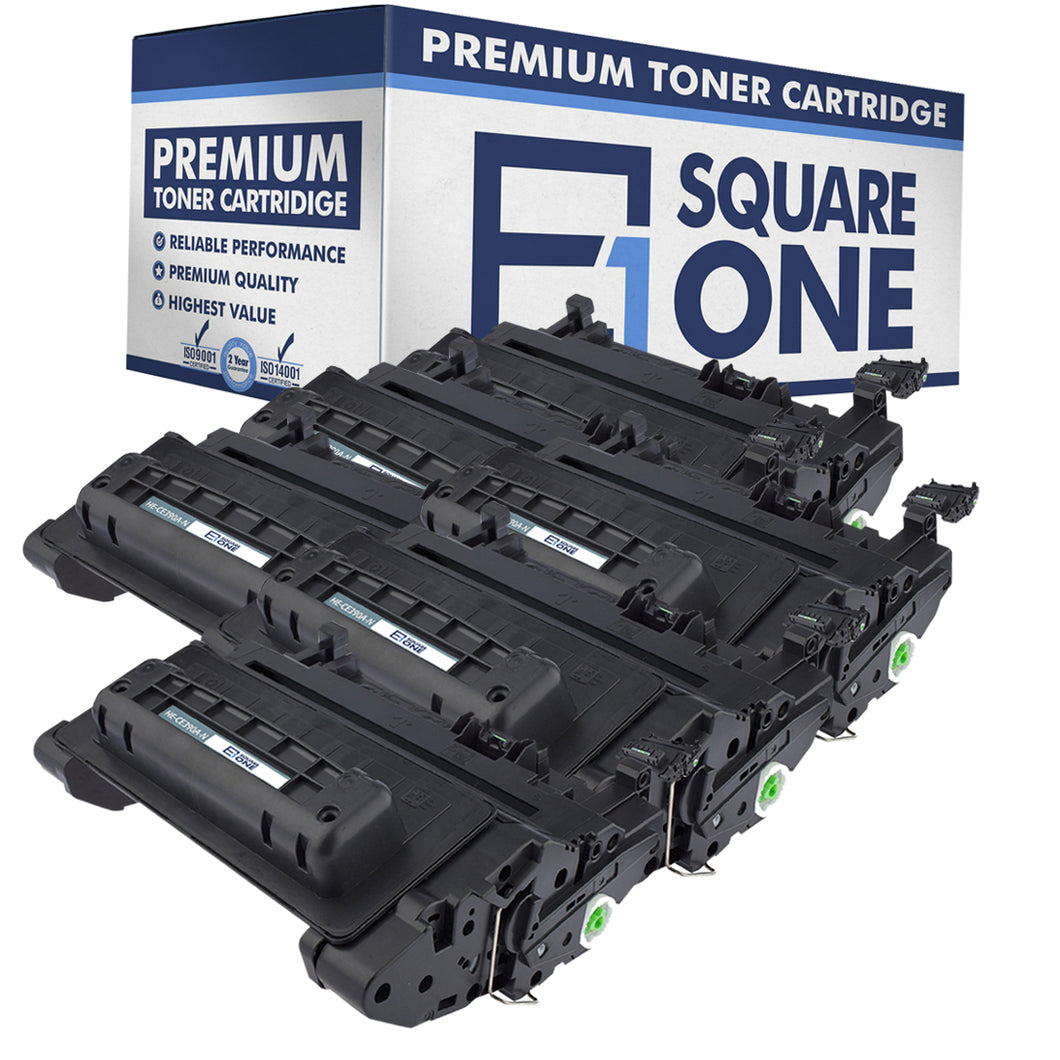 eSquareOne Compatible Toner Cartridge Replacement for HP 90A CE390A (Black, 6-Pack)