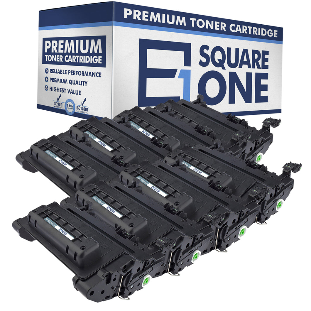 eSquareOne Compatible Toner Cartridge Replacement for HP 90A CE390A (Black, 8-Pack)