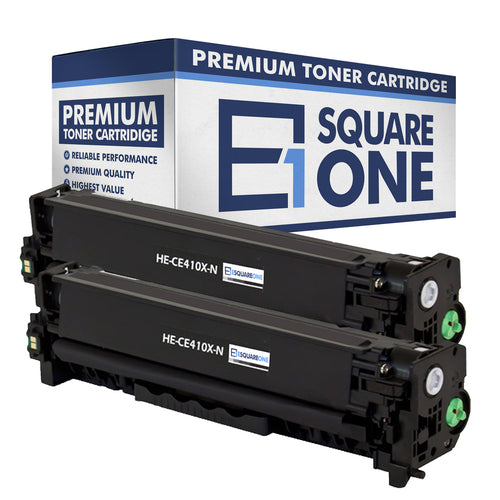 eSquareOne Compatible High Yield Toner Cartridge Replacement for HP 305X CE410X (Black, 2-Pack)
