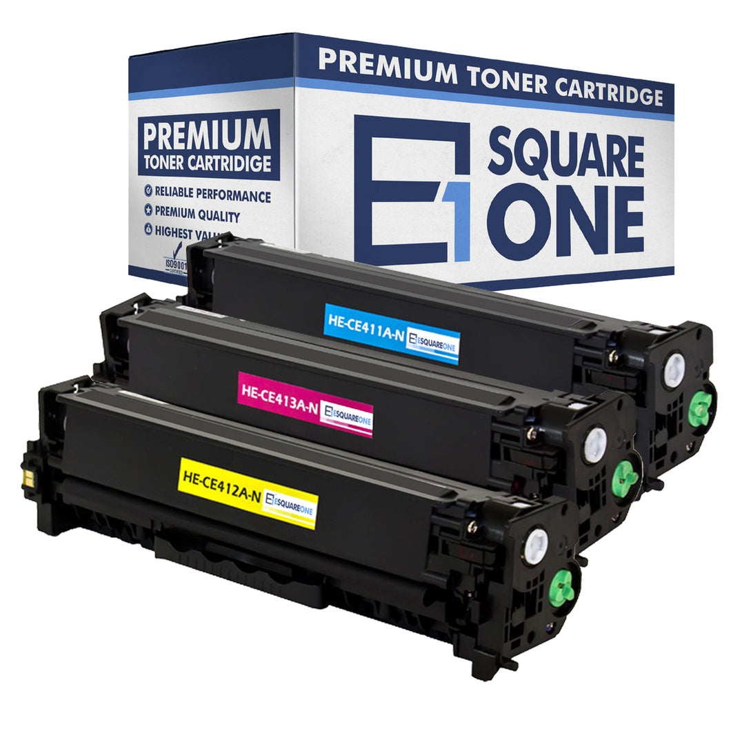 eSquareOne Compatible Toner Cartridge Replacement for HP 305A CE411A CE412A CE413A (Cyan, Yellow, Magenta)