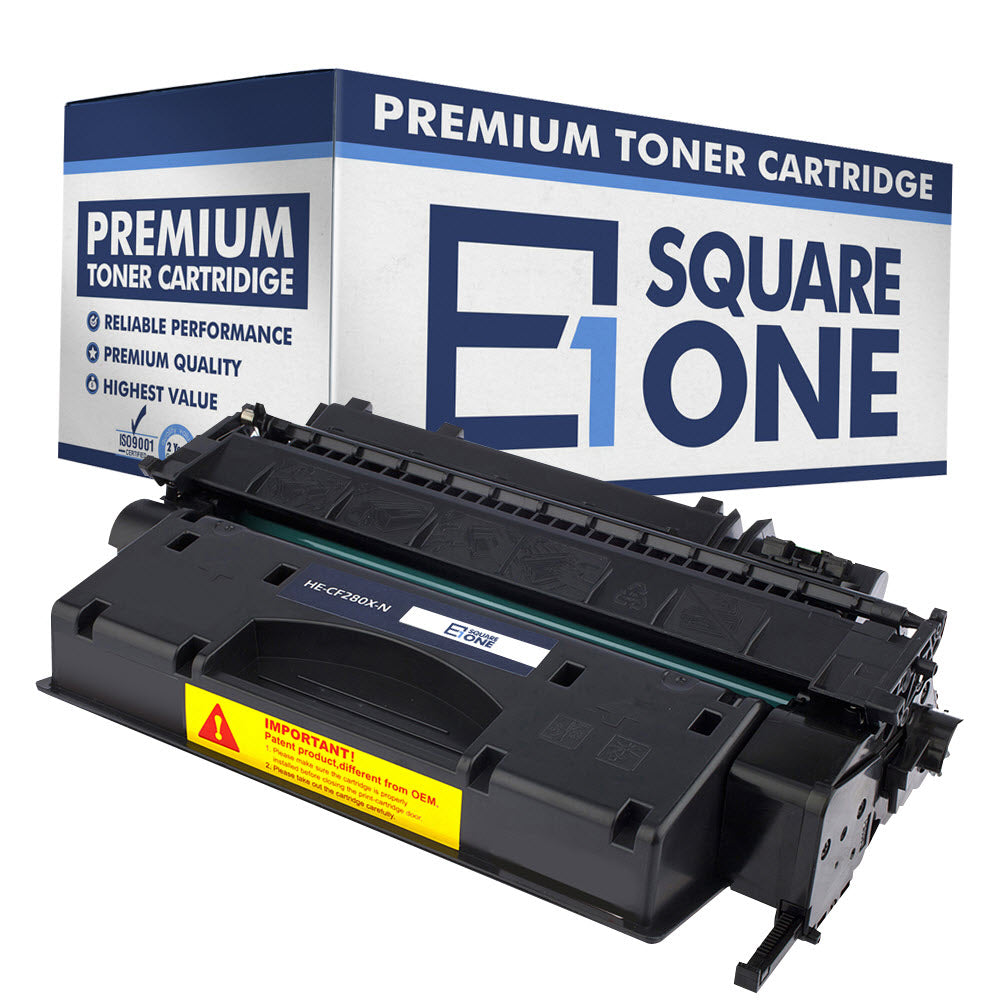 eSquareOne Compatible High Yield Toner Cartridge Replacement for HP 80X CF280X (Black, 1-Pack)