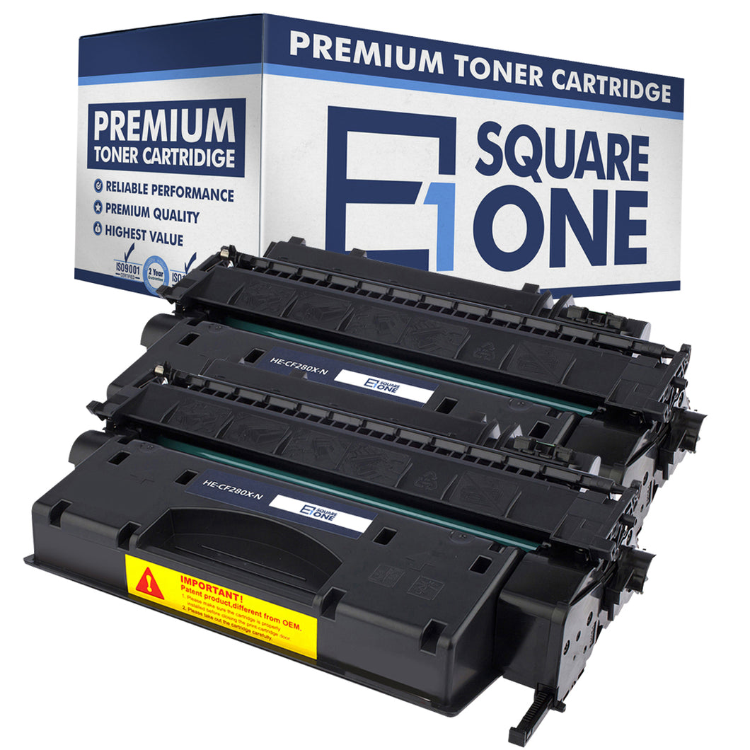 eSquareOne Compatible High Yield Toner Cartridge Replacement for HP 80X CF280X (Black, 2-Pack)