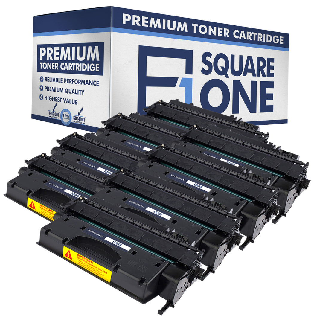eSquareOne Compatible High Yield Toner Cartridge Replacement for HP 80X CF280X (Black, 8-Pack)