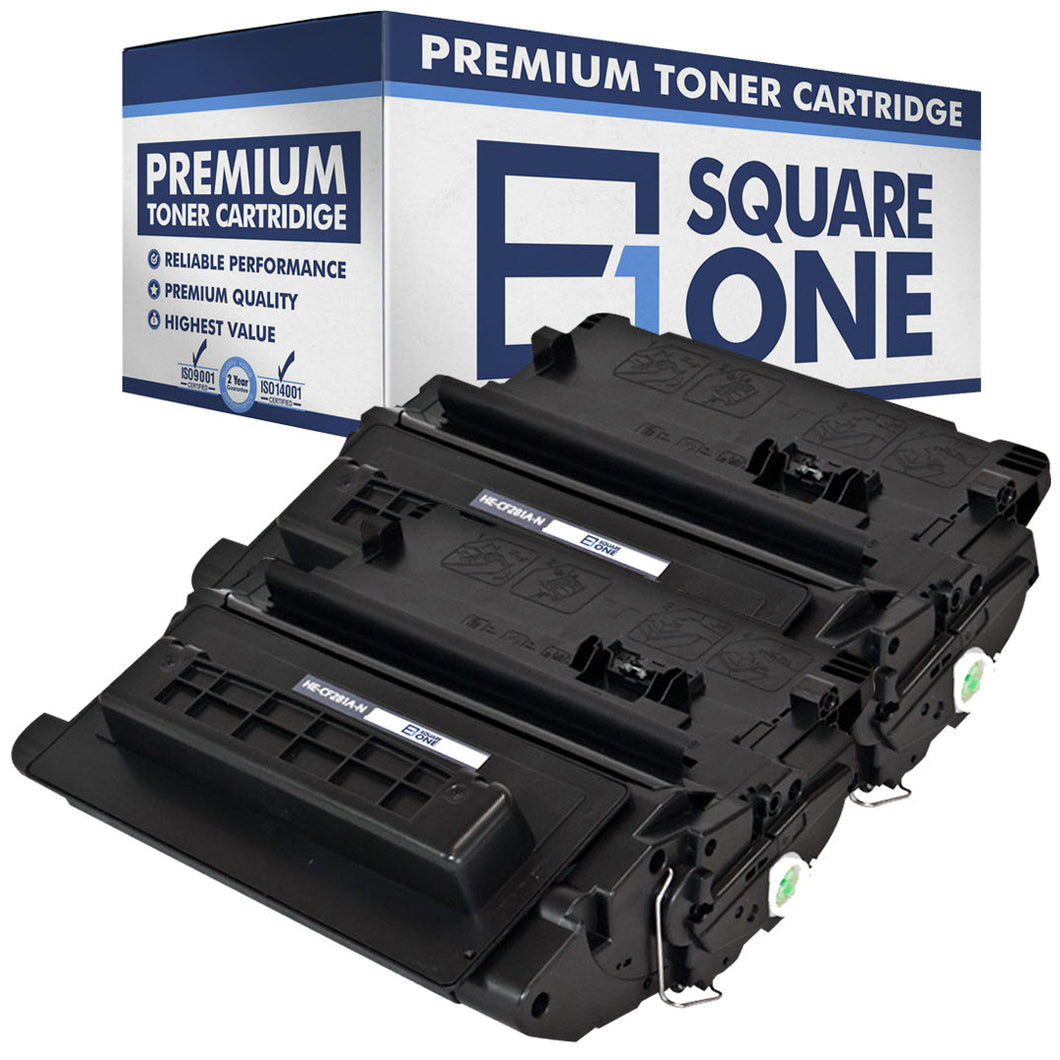 eSquareOne Compatible Toner Cartridge Replacement for HP 81A CF281A (Black, 2-Pack)