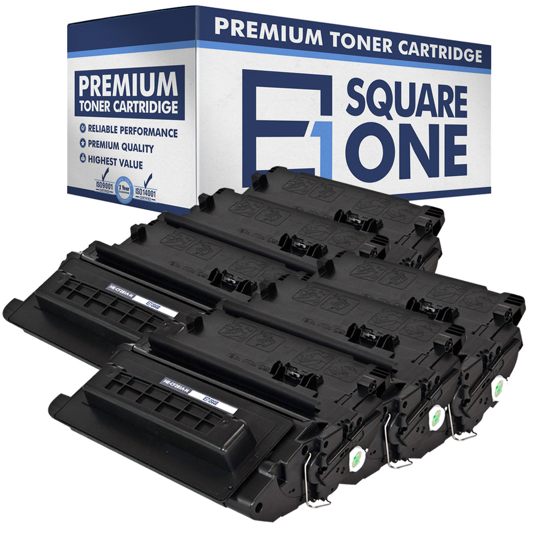 eSquareOne Compatible Toner Cartridge Replacement for HP 81A CF281A (Black, 6-Pack)