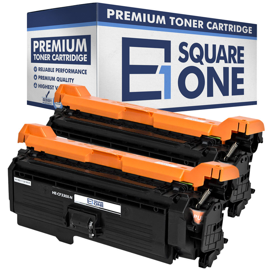 eSquareOne Compatible (High Yield) Toner Cartridge Replacement for HP 654X CF330X (Black, 2-Pack)