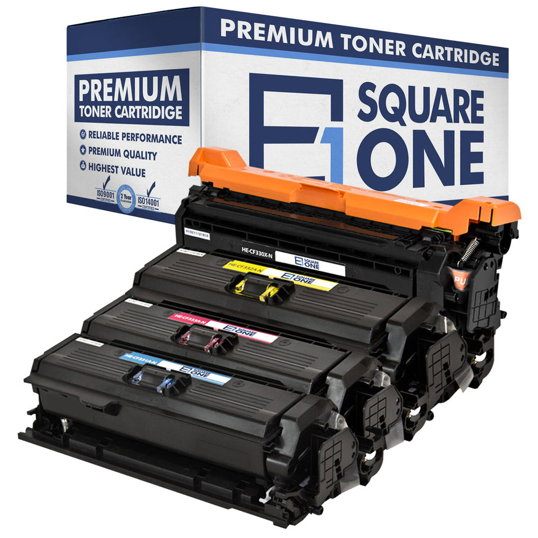 eSquareOne Compatible (High Yield) Toner Cartridge Replacement for HP 654X CF330X 654A CF332A CF333A CF331A (Black, Cyan, Magenta, Yellow)