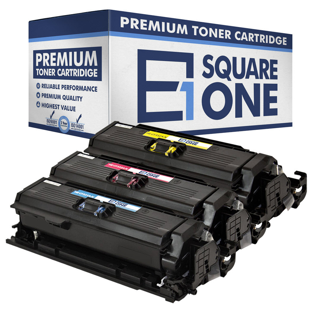 eSquareOne Compatible Toner Cartridge Replacement for HP 654A CF332A CF333A CF331A (Cyan, Magenta, Yellow)