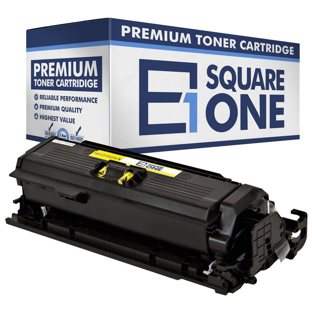 eSquareOne Compatible Toner Cartridge Replacement for HP 654A CF332A (Yellow, 1-Pack)