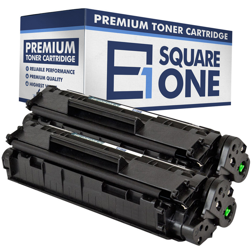 eSquareOne Compatible Toner Cartridge Replacement for HP 12A Q2612A (Black, 2-Pack)