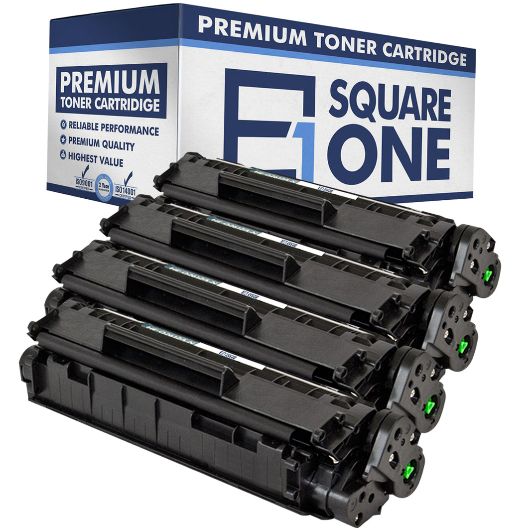 eSquareOne Compatible Toner Cartridge Replacement for HP 12A Q2612A (Black, 4-Pack)