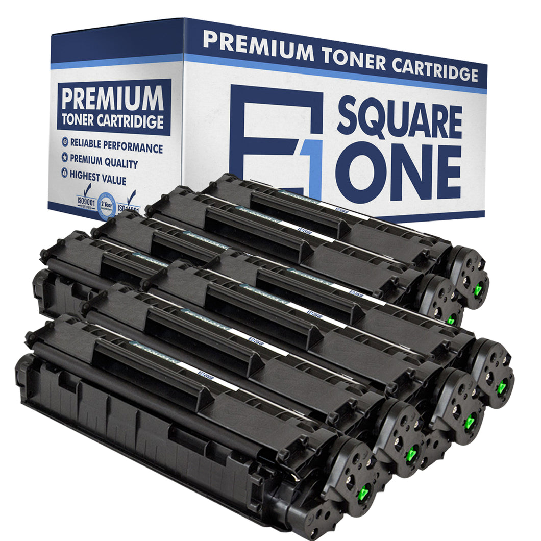 eSquareOne Compatible Toner Cartridge Replacement for HP 12A Q2612A (Black, 8-Pack)