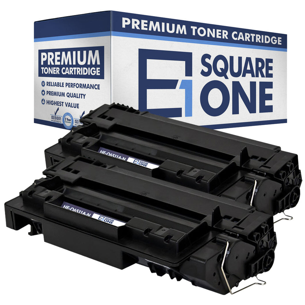 eSquareOne Compatible Toner Cartridge Replacement for HP 11A Q6511A (Black, 2-Pack)