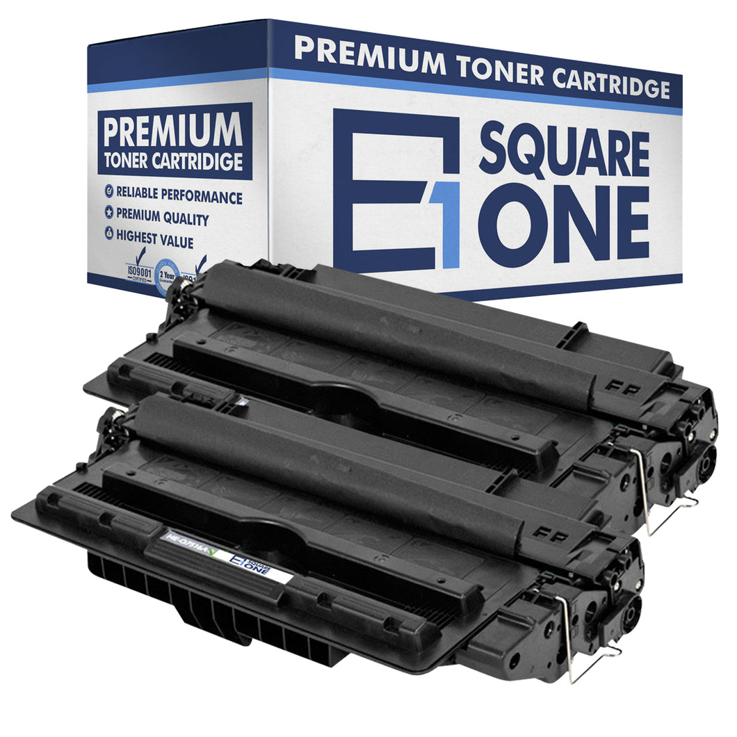 eSquareOne Compatible Toner Cartridge Replacement for HP 16A Q7516A (Black, 2-Pack)