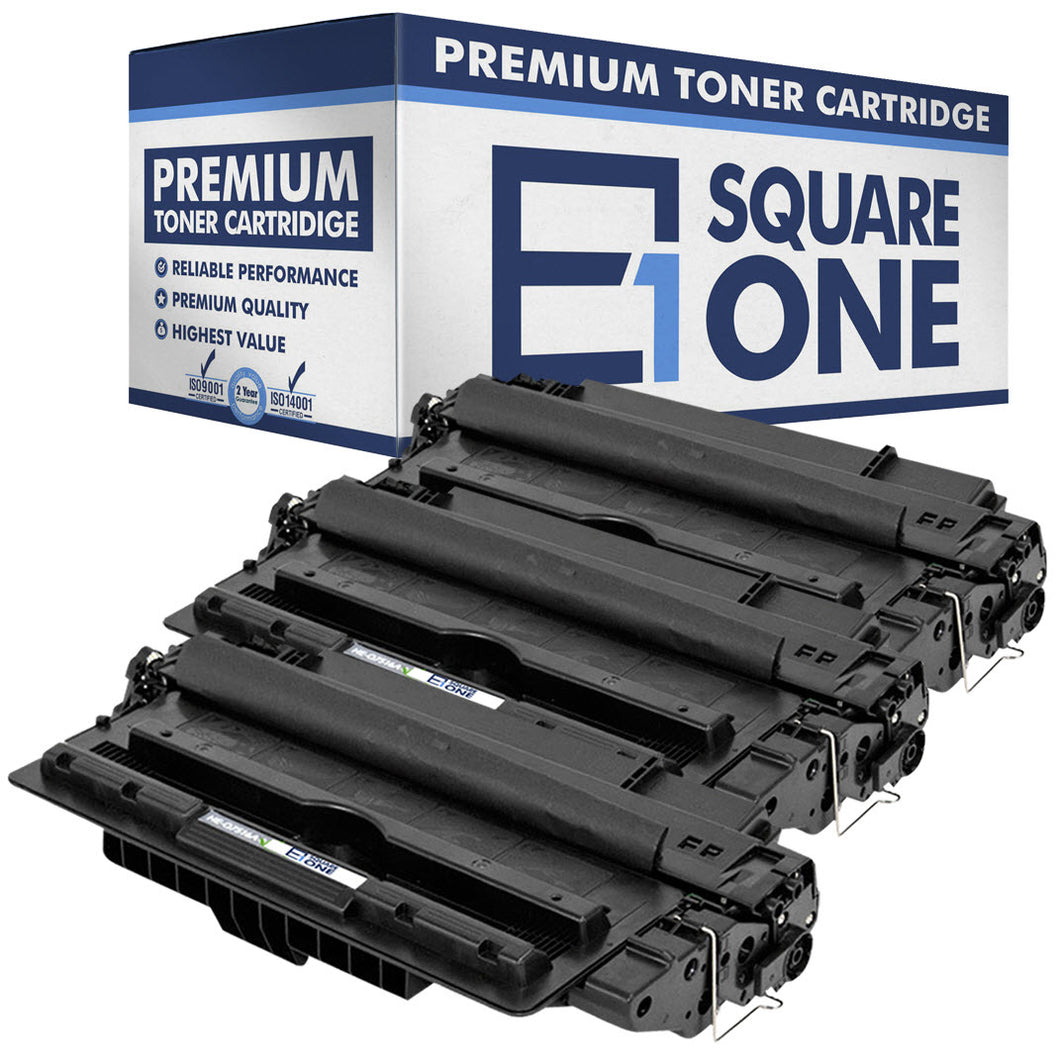 eSquareOne Compatible Toner Cartridge Replacement for HP 16A Q7516A (Black, 3-Pack)