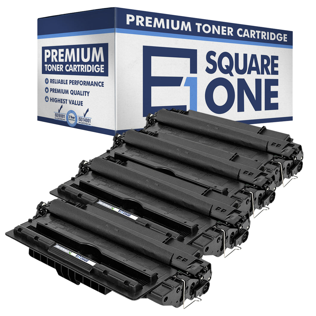 eSquareOne Compatible Toner Cartridge Replacement for HP 16A Q7516A (Black, 4-Pack)