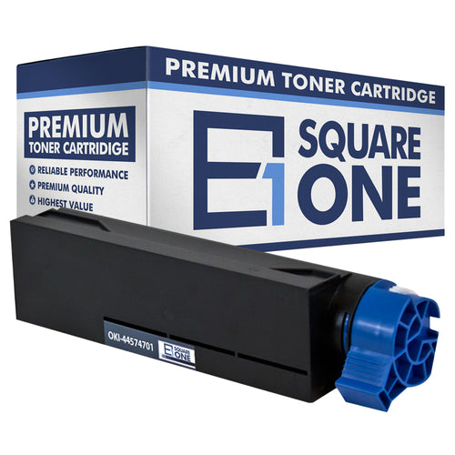 eSquareOne Compatible Toner Cartridge Replacement for Okidata 44574701 (Black, 1-Pack)