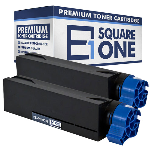 eSquareOne Compatible Toner Cartridge Replacement for Okidata 44574701 (Black, 2-Pack)