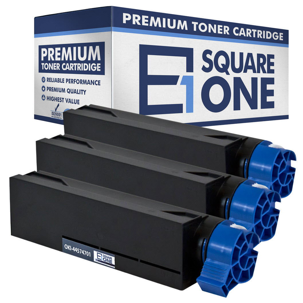 eSquareOne Compatible Toner Cartridge Replacement for Okidata 44574701 (Black, 3-Pack)