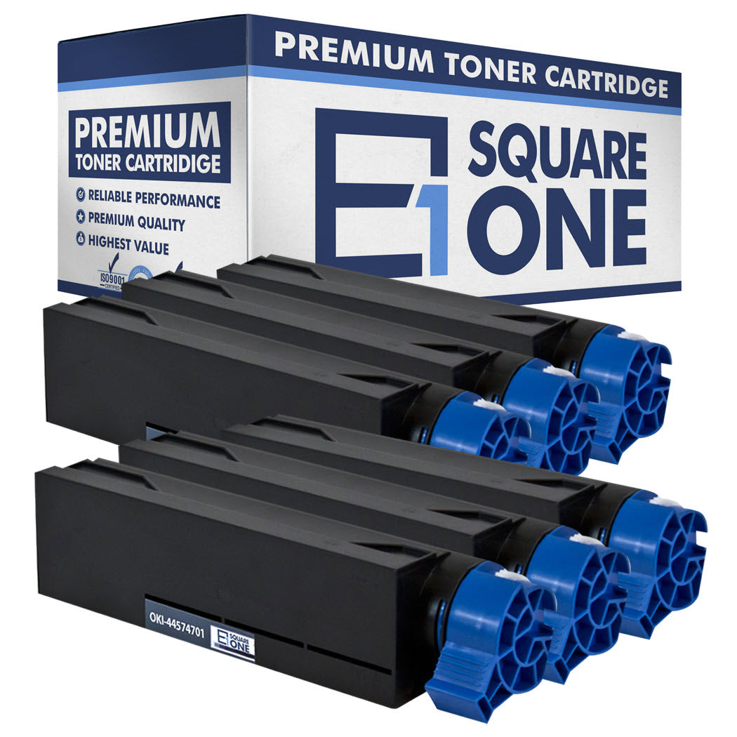 eSquareOne Compatible Toner Cartridge Replacement for Okidata 44574701 (Black, 6-Pack)