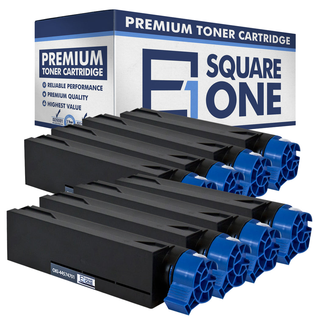 eSquareOne Compatible Toner Cartridge Replacement for Okidata 44574701 (Black, 8-Pack)